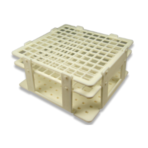 Labpro 100 hole plastic rack suit 11mm tubes (10x10)