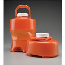 3500mL (3.5L) Flex-Collect™ Expandable 24hr Urine Container with Handle, Amber,